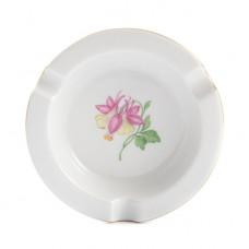 Ascher, Blume 1, leicht, Goldrand, ø 12 cm