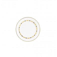 Кондитерские изделия, плиты, полосы, кромка малая в синий, желтый и золотой, Ø 14 см
