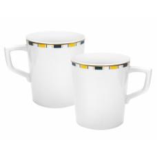 Кофейная кружка-Set, 2-tlg., Stripes, край маленький, синий, желтый и золото