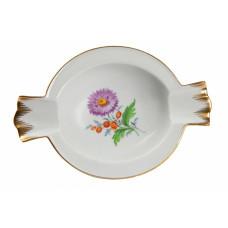 Ascher, Blume 2 mitte, bunt, Goldrand, L 14 cm