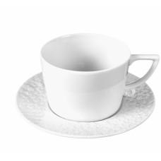 Капучино чашка с блюдцем, белый, V 0,2 л