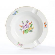Ascher, Blume 3 mitte, bunt, Goldrand, ø 16,5 cm