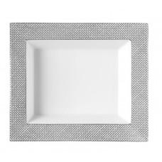 Vide-poche средства, сетка, серый с платиновой отделкой ,платина край, 16 х 13,5 см