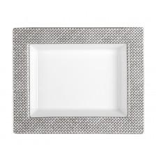 Vide-poche малый, сетка, серый с платиновой отделкой ,платина край, 12,3 х 10 см