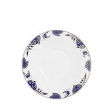 Кофе-Эспрессо с блюдцем, синий Noble, лук кромка, синий кобальт, красный и золото со скидкой чате, Ø 12 см