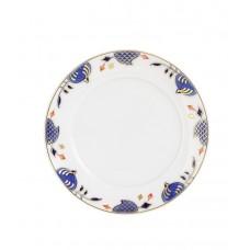 Кондитерские изделия тарелка, синий Noble, лук кромка, синий кобальт, красный и золото со скидкой чате, Ø 14 см