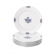 Закуски- & десертная тарелка-комплект, благородный синий, двойной лист, Bl–tenknospe, синий кобальт, красный и золотой со скидкой чате