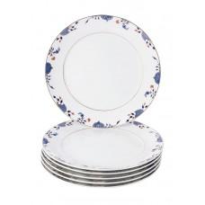 Десертная тарелка-Set 6-tlg., Noble Blue, лук кромка, синий кобальт, красный и золото со скидкой чате