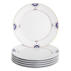 Закуски- & десертная тарелка-комплект, Noble Blue, Bl–tenknospe, Bl–tenzweig, кобальт со скидкой синий, красный и золотой чате