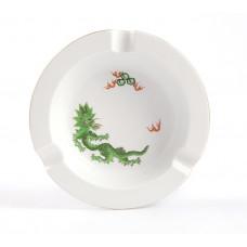 Ascher, Ming-Drache, leicht, grün, ohne Kante, Goldrand, ø 16,5 cm