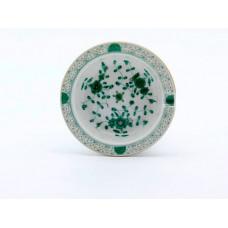 Ascher, Indische Malerei, grün, Goldpunkte, Goldrand, ø 9 cm