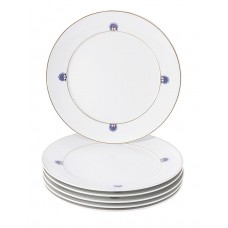 Десертная тарелка-Set 6-tlg., Noble Blue, Bl–tenrosette, синий кобальт, красный и золотой со скидкой чате