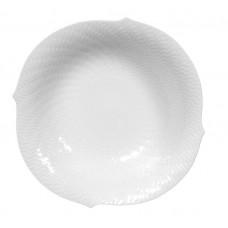 Schüключи, круглые, форма волны рельеф игре, Wei, ø 22 см