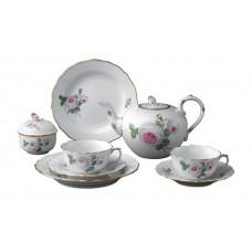 Чайный набор, Weie Rose сердечник с Пурпуром,золотые края, форма