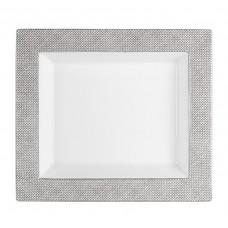 Vide-poche gro, сетка, серый с платиновой отделкой ,платина край, 21 х 18,5 см