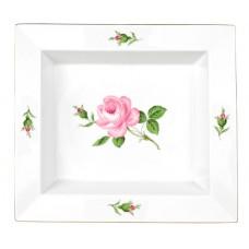 Vide-poche gro, розовый в середине, разноцветные, золотые края, 21 х 18,5 см