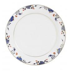 Десертная тарелка, синий Noble, лук кромка, синий кобальт, красный и золото со скидкой чате, Ø 29 см
