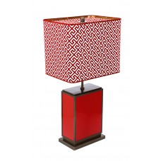 Настольная лампа Cube, Red Sunset, снаряжении латуни brüния, H 74 см