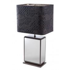 Настольная лампа куб, блеск платины, снаряжении латуни brüния, H 74 см