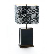 Настольная лампа куб, Индиго, синий, H 74 см
