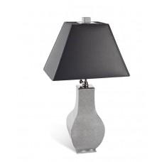Настольная лампа Mesh серый, платина отделка, Платиновые грани, H 49 см