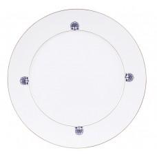 Десертная тарелка, Noble Blue, Bl–tenrosette, синий кобальт, красный и золото со скидкой чате, Ø 29 см