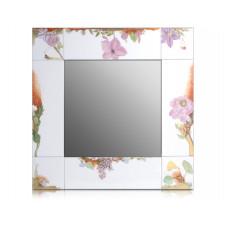 Зеркало, Бл–hender сад, красочный и золото, белаяон край, 40x40 см