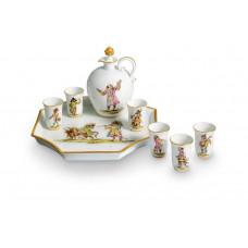 Likörflasche, музыкантов Обезьян стилизованные, красочные, золотые украшения, Лимитированные шедевры, V 0,30 л