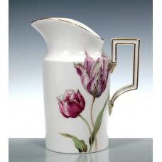 Milchk—крупье, цветы, картина, тюльпаны, разноцветные, золотые края, Ограниченные шедевры, H 12,5 см