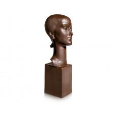 Büste M—голову девушка, Красный керамогранит, Ограниченные шедевры, H 32 см