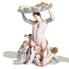 Nereide с оболочкой, Разноцветные и золотые staffiert, Лимитированные шедевры, H 34 см