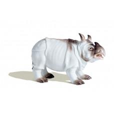 Носорог, красочный staffiert, Ограниченным тиражом шедевры, H 11 см