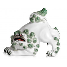 Chines. Löwe, Разноцветные и золотые staffiert, богатый, Ограниченный шедевры, H 11 см