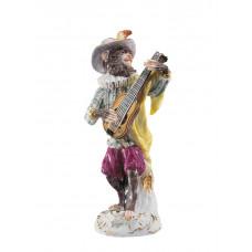 Гитарист обезьян часовня, разноцветные и золотые staffiert, H 14 см