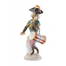 Барабанщиков обезьян часовня, разноцветные и золотые staffiert, H 14,5 см