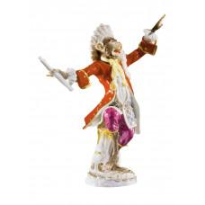 Капельмейстер обезьян часовня, разноцветные и золотые staffiert, H 17,5 см