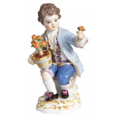 G—rtnerkind м. Blument.,сиденье., Красочный и золото H staffiert, 12,5 см