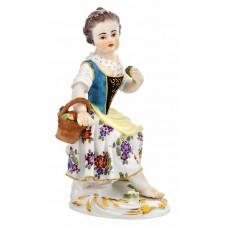 G—rtnerm—девушка с фруктами, разноцветные и золотые staffiert, H 13 см