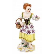 G—rtnerm—девушка корзина с цветами, разноцветные и золотые staffiert, H 15,5 см