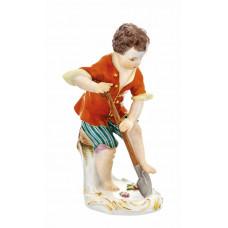 G—rtnerjunge с лопаты, разноцветные и золотые staffiert, H 15 см