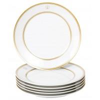 Закуски & десертная тарелка-Set 6-tlg., Swords Luxury Gold, Меч, Медальон, Золотая Нить, Золотая Лента, Форма