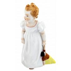 M—девушка, стоя, с куклой, Красочный staffiert, H 16,5 см