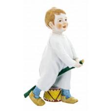 Ребенок Застрял и барабан, красочный staffiert, H 18,5 cm