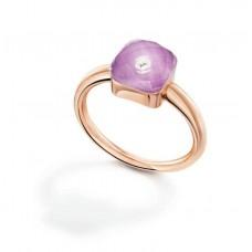 Кольцо My little Mystery Diamond purple rose фарфора и горного хрусталя