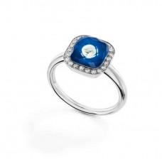 Ring My little Mystery Glamour с sea blue фарфора и горного хрусталя