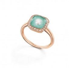 Ring My little Mystery Glamour с ice green фарфора и горного хрусталя