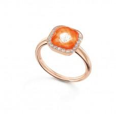 Ring My little Mystery Glamour m. оранжевого tangerine фарфор Bergkrist.