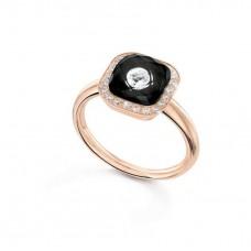Ring My little Mystery Glamour с черный фарфора и горного хрусталя