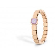 Браслет My little Mystery Glamour с rosé фиолетовый фарфора и горного хрусталя, 165 мм