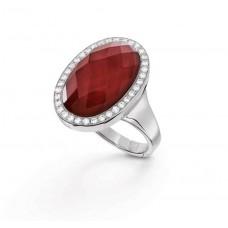 Кольцо My little Mystery Jewel с imperial red фарфора и горного хрусталя